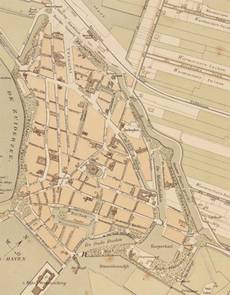 Stadsplattegrond 1890