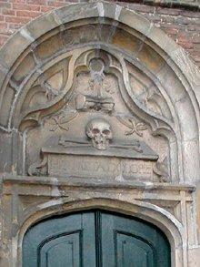 Het skelet op de Noorderkerk