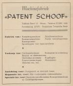 advertentie - Patent Schoof Machinefabriek