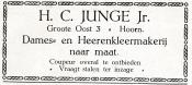 advertentie - Kleermakerij H.C. Junge Jr.